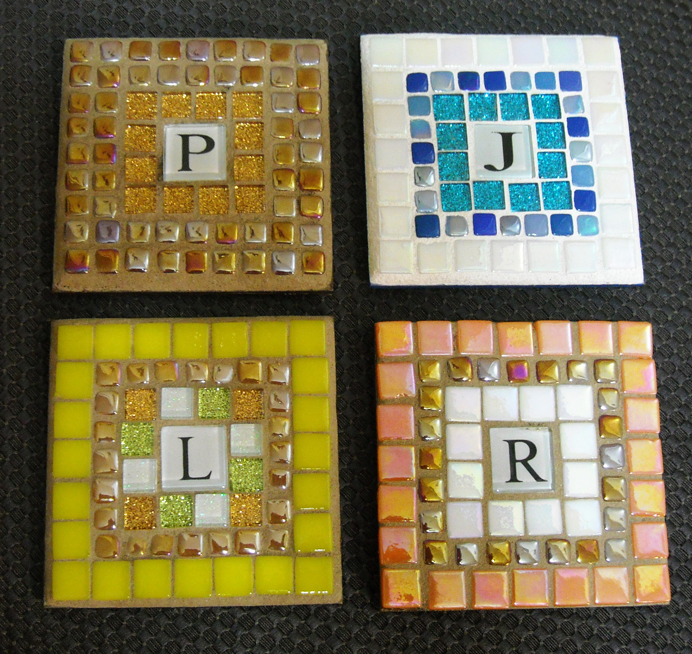 Mosaic Initial Coasters