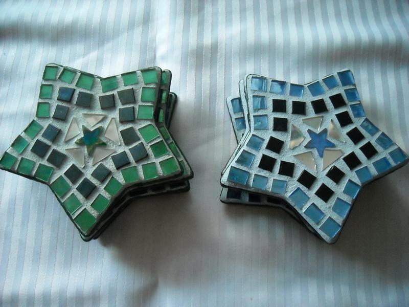 Mosaic coasters Stars