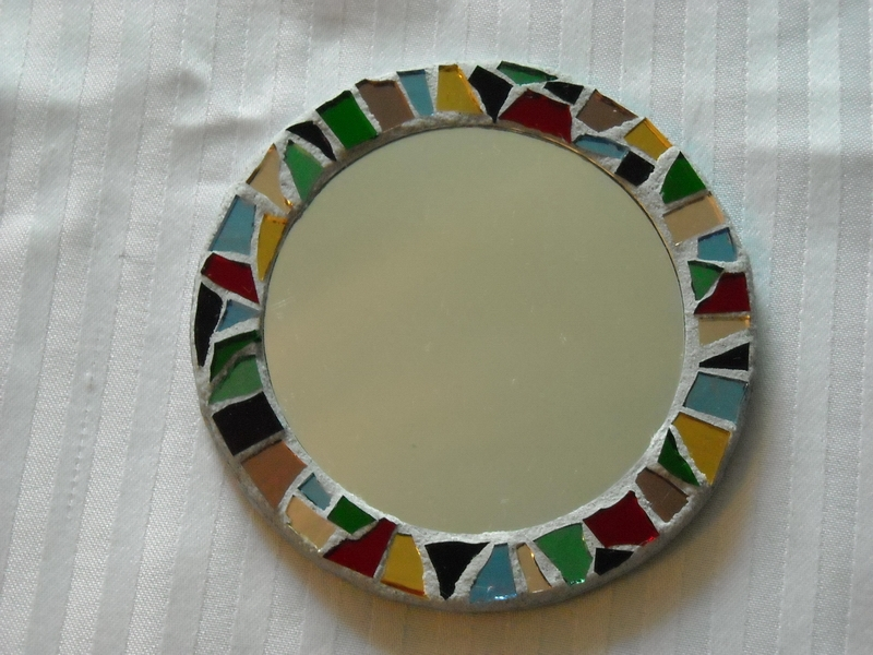 Mosaic coasters Chip Rimmed Mirrors