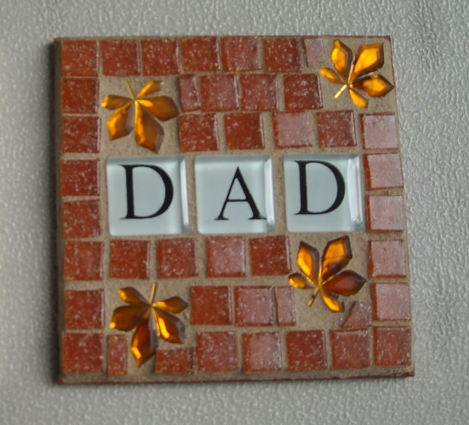 Mosaic coaster Dad