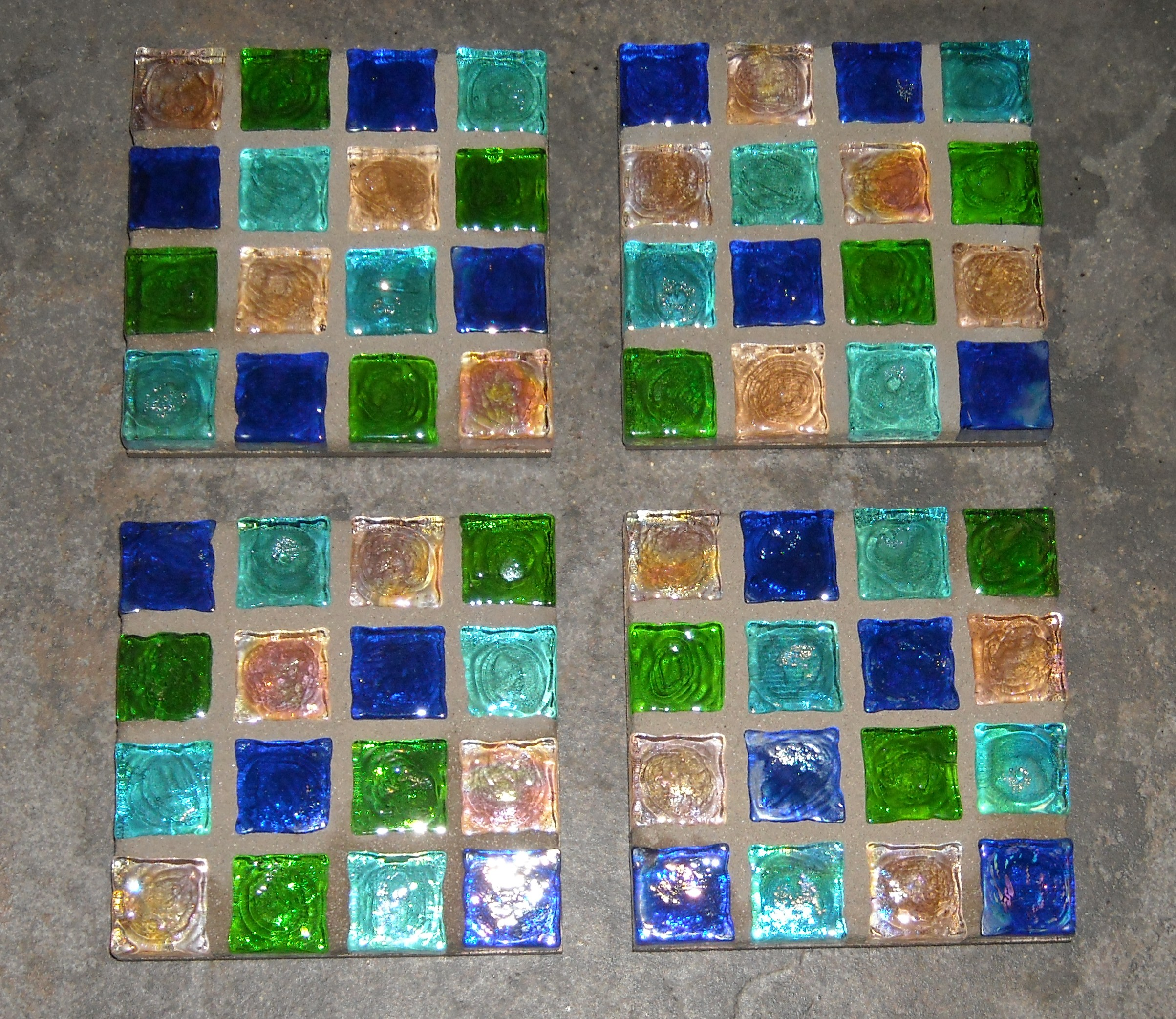 Mosaic coasters glass-cube-tile