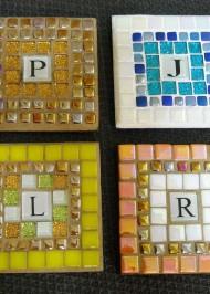 Mosaic Initial Coasters