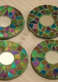 Mosaic coasters Gasoline Iridium