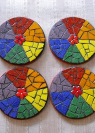 Mosaic coasters Rainbow