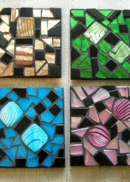 Mosaic coasters Multi Iridium