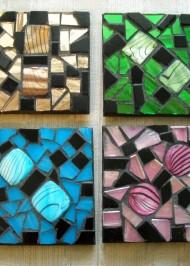Mosaic coasters Multi Iridium