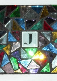 Mosaic coaster Initial in Multi Mirror