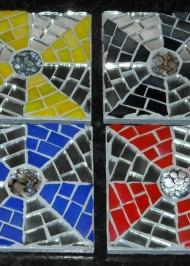 Mosaic coasters Multi Mirror Pinwheels