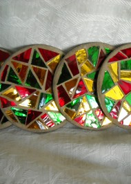 Christmas mirror coasters