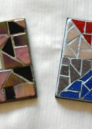 Mosaic coasters Initial in multi