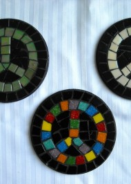 Mosaic coasters Peace
