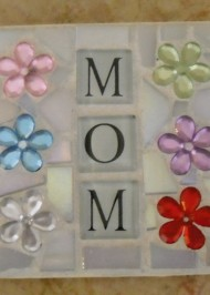 Mosaic coaster Mom