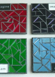 Mosaic coasters Multi Mirror Imagine