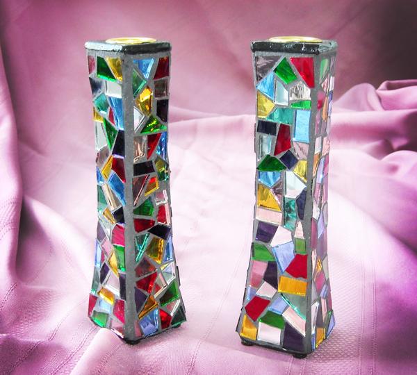 Mosaic Candlesticks mirror