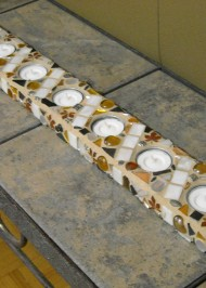 Mosaic tealight holder