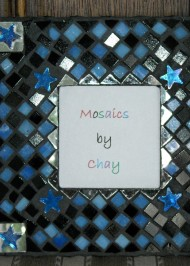 Mosaic picture frame Stars