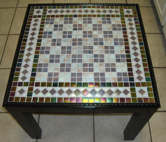 Mosaic Chess table iridium tile
