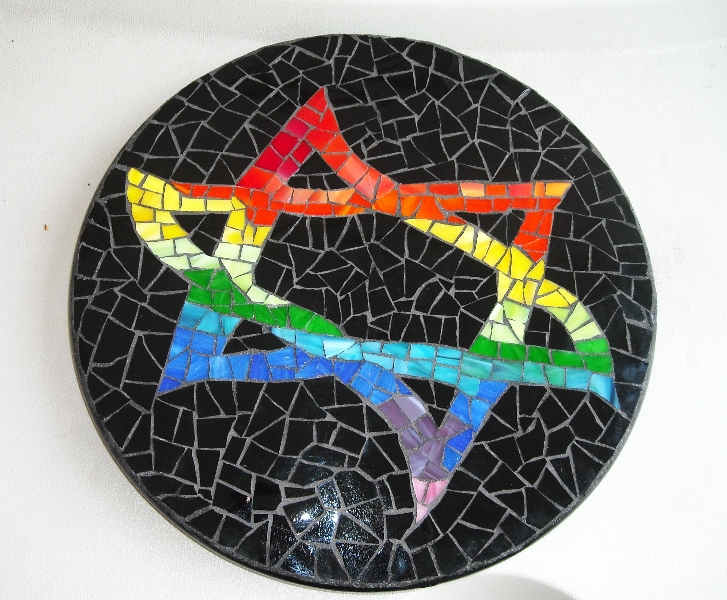 Mosaic Lazy Susan Star-of-David
