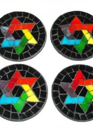 Mosaic Coasters Rainbow Star-of-David