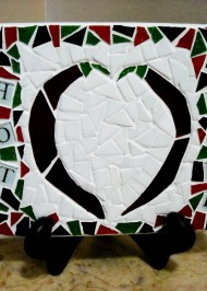 Mosaic trivet Hot Stuff