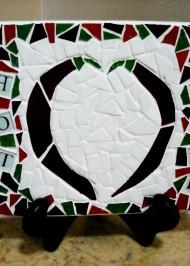 Mosaic trivet Hot Stuff