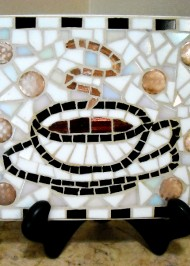 Mosaic trivet Coffee Time