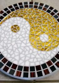 Mosaic lazy susan Peace