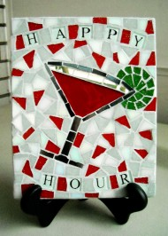 Mosaic trivet Happy Hour