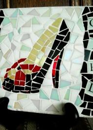 Mosaic trivet Girlie Girl Stilletto