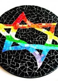 Mosaic Lazy Susan Star-of-David