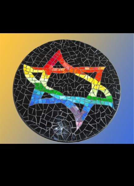 Star-of-david-lazy-susan - Mosaic Glass