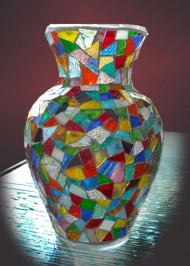 Mosaic-glass-vase