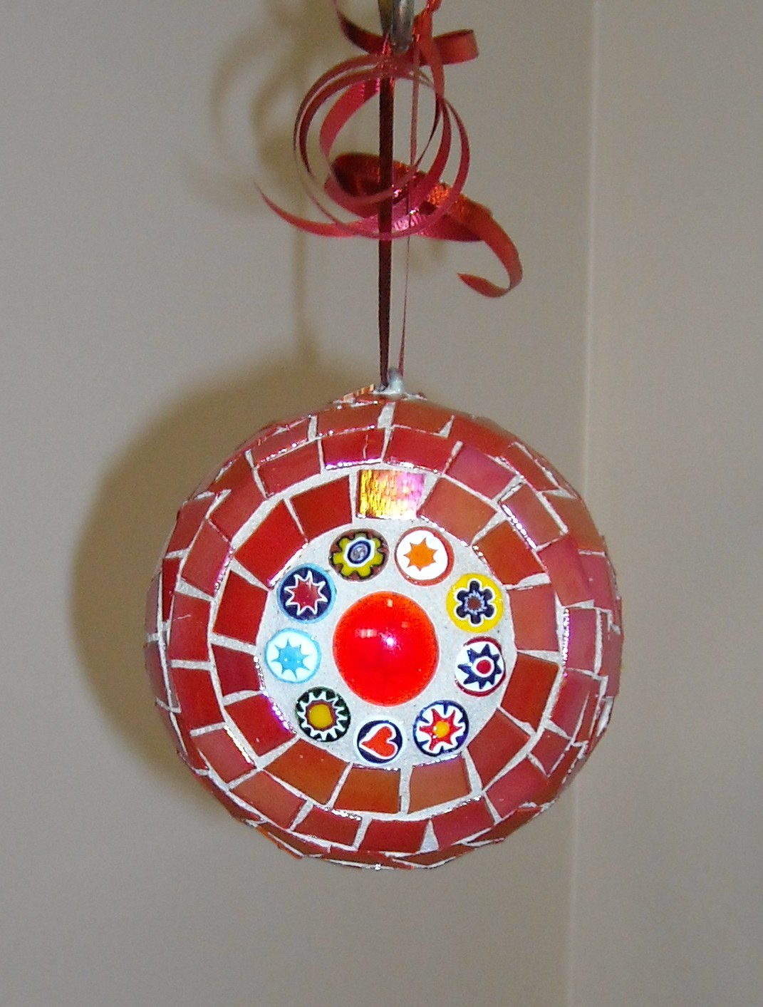 red millefiori ornament