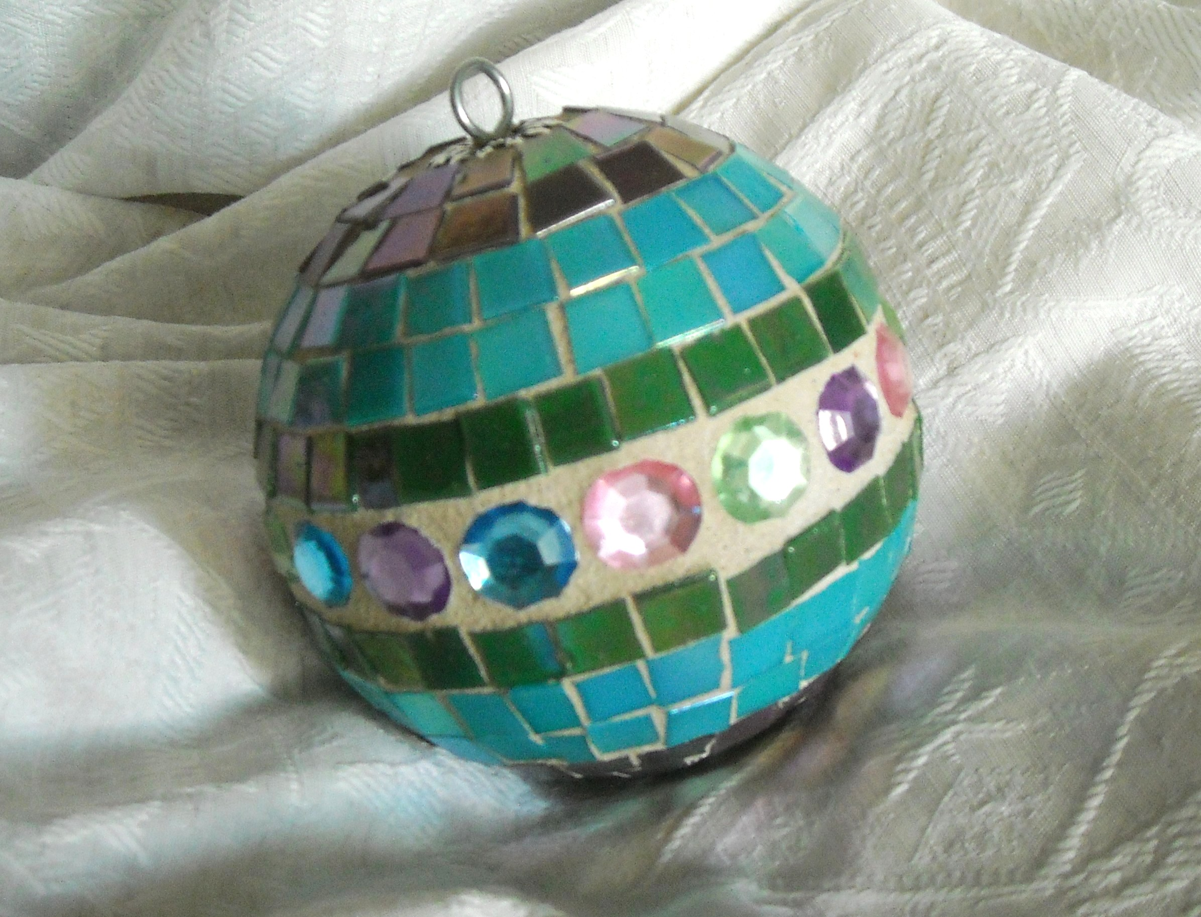 Turquoise multi-jewel  oversize ornament