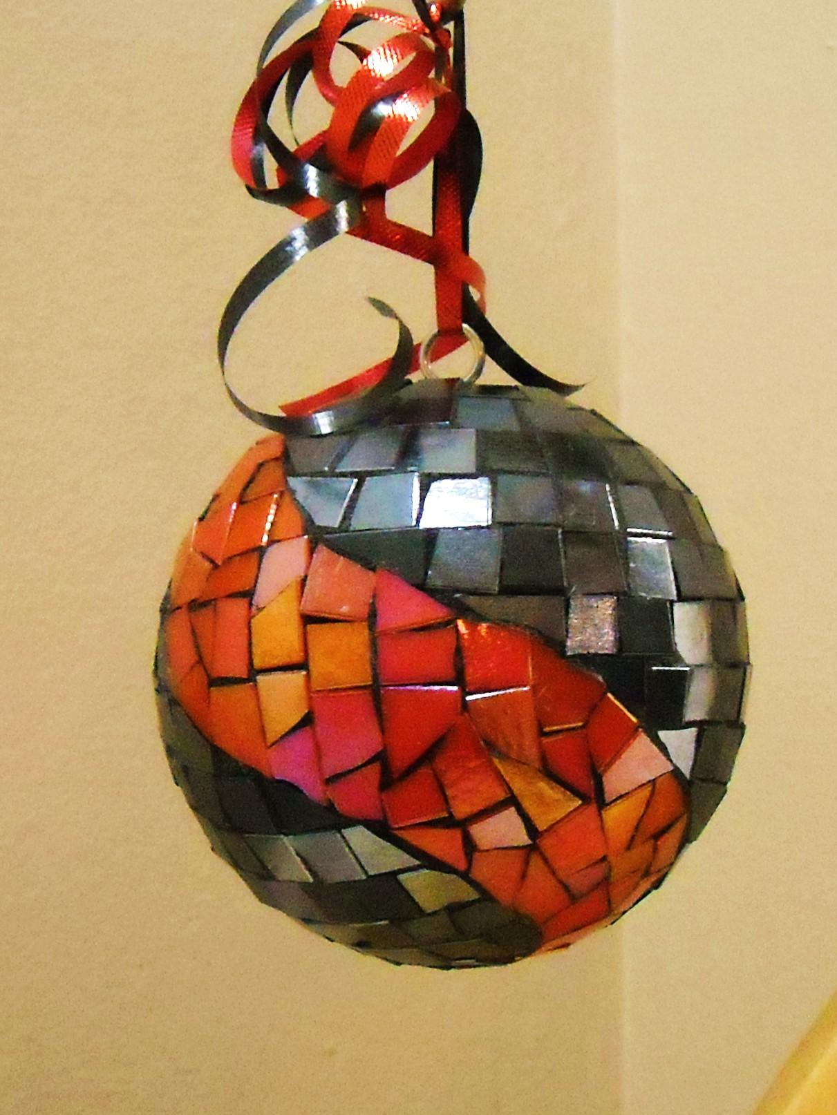Metal coral swirl  oversize ornament