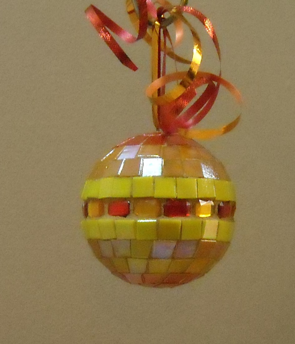 Orange jewel ornament