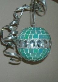 Light green glitter ornament