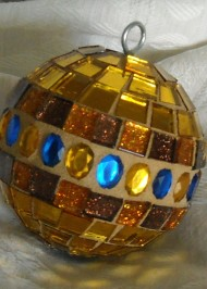 Gold glitter ornament