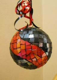 Metal coral swirl  oversize ornament