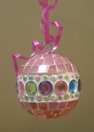 Pink multi jewel ornament