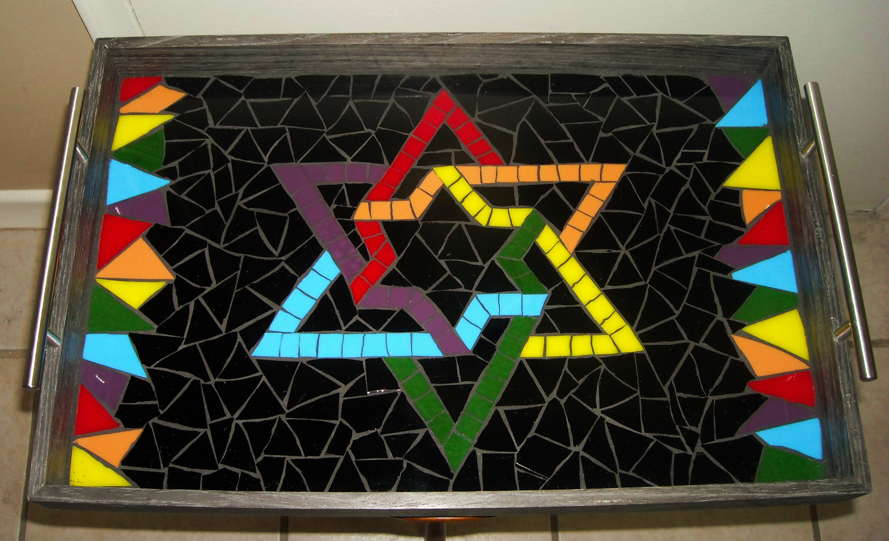 Black Multi Star of David
