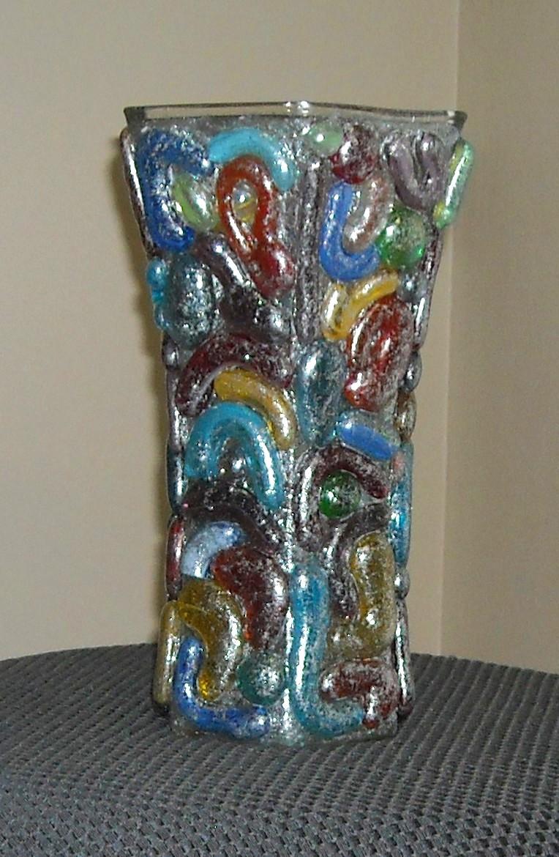 Glitter glass vase