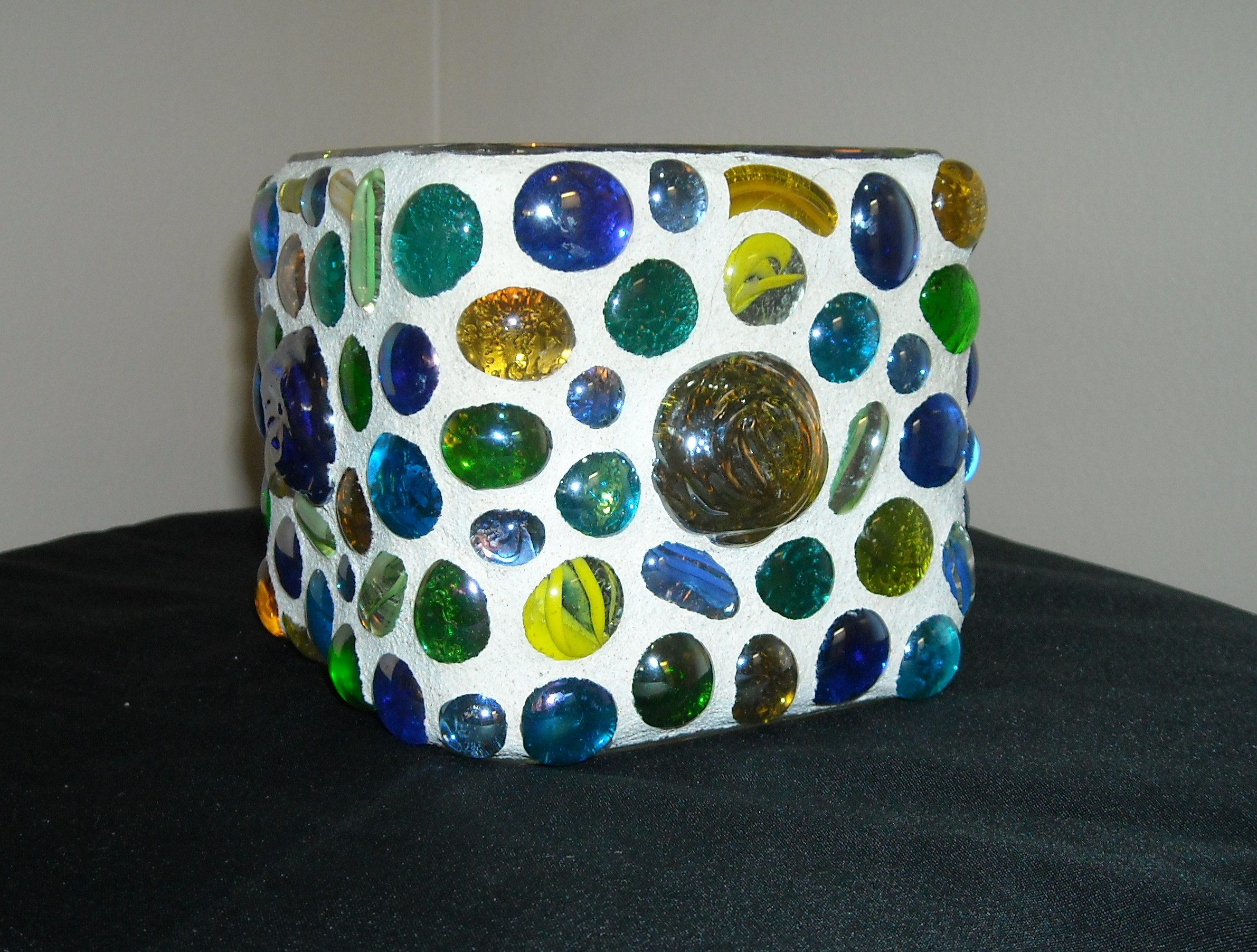 Glass beaded votive