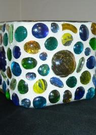 Glass beaded votive