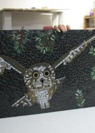 Mosaic Owl portrait