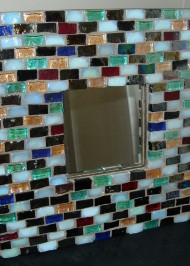 Glass tiled mirror