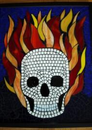 flaming-skull